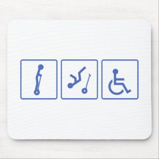Individuo de la silla de ruedas