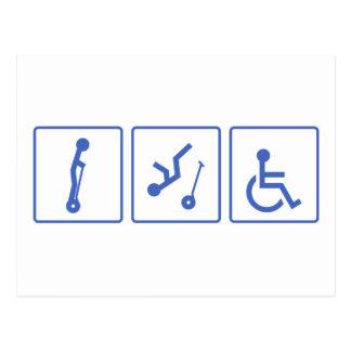 Individuo de la silla de ruedas tarjeta postal