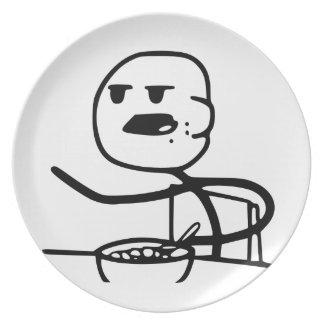 Individuo de Meme del cereal Plato De Cena