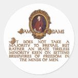 Individuo de Samuel Adams, furioso e incansable Etiquetas Redondas