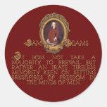 Individuo de Samuel Adams, furioso e incansable Pegatina Redonda