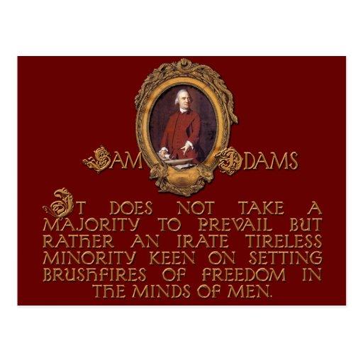 Individuo de Samuel Adams, furioso e incansable Postal