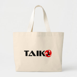 Individuo de Taiko (diseño 3) Bolsa Tela Grande