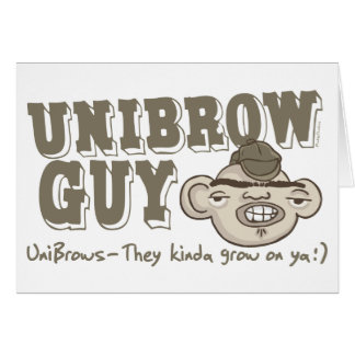 Individuo de Unibrow con el gorra Tarjetón