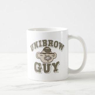 Individuo de Unibrow con el gorra Taza De Café