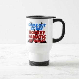 Individuo del cable del amante del hockey tazas de café