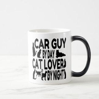 Individuo del coche del amante del gato taza mágica
