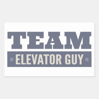 Individuo del elevador del equipo pegatina rectangular