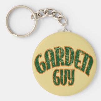 Individuo del jardín llavero redondo tipo pin