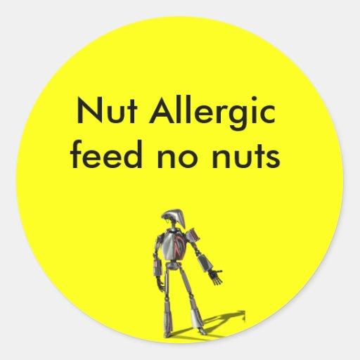 Individuo del robot - no alimente ninguna nuez pegatina redonda