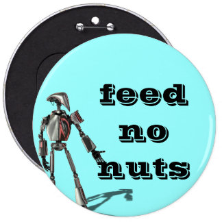 Individuo del robot - no alimente ninguna nuez pin redondo de 6 pulgadas