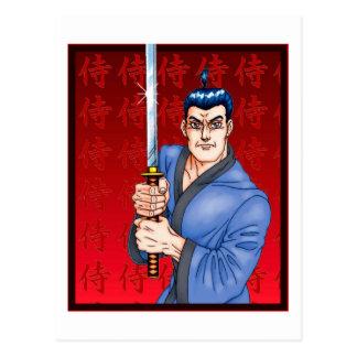 Individuo del samurai postal