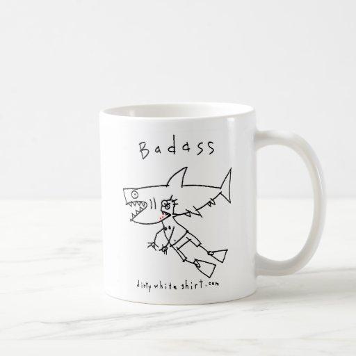 Individuo del tiburón de Badass Taza De Café