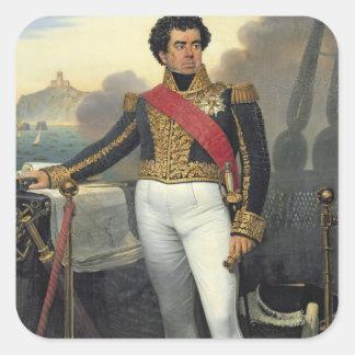 Individuo del vencedor, barón Duperre, 1832 Pegatina Cuadrada