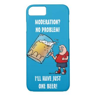 Individuo divertido con apenas una cerveza GRANDE Funda iPhone 7