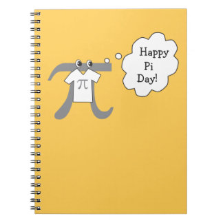 Individuo divertido del pi - día feliz del pi spiral notebooks