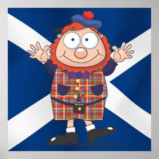 Individuo escocés pequenito póster