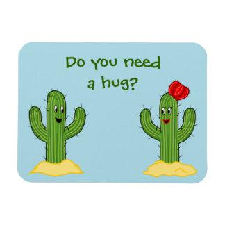Individuo espinoso del cactus del dibujo animado imanes