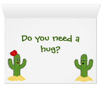 Individuo espinoso del cactus del dibujo animado felicitación