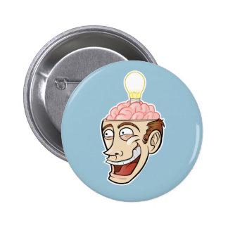Individuo feliz con una gran idea pin
