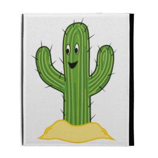 Individuo feliz del cactus del dibujo animado