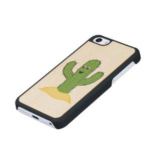 Individuo feliz del cactus del dibujo animado funda de iPhone 5C slim arce