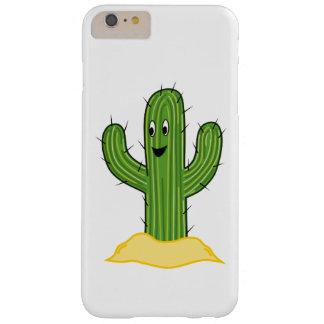 Individuo feliz del cactus del dibujo animado funda de iPhone 6 plus barely there
