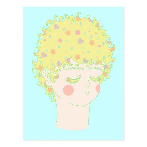 Individuo femenino tarjeta postal