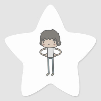 Individuo fresco pegatina en forma de estrella
