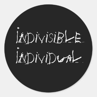 Individuo indivisible pegatina redonda