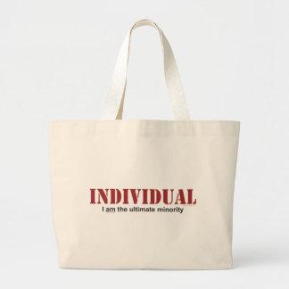 Individuo… la última minoría bolsa tela grande