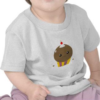 Individuo lindo de la magdalena del chocolate de K Camisetas