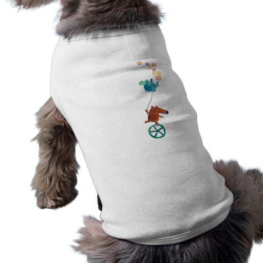 Individuo lindo en Monocycle Camiseta De Perro