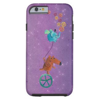 Individuo lindo en Monocycle Funda De iPhone 6 Tough
