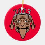 Individuo maya del fiesta 2013 ornamentos de navidad