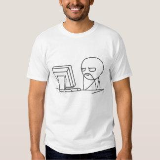 Individuo Meme - camiseta del ordenador Polera