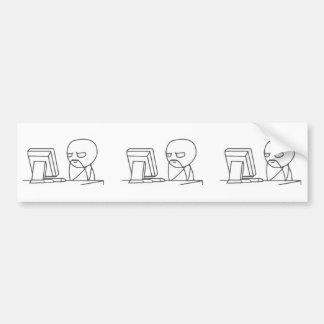 Individuo Meme - pegatina para el parachoques del Pegatina De Parachoque