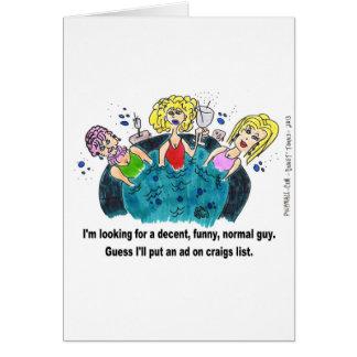 Individuo normal divertido decente tarjeta de felicitación