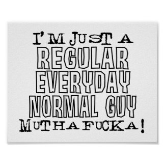 Individuo normal poster