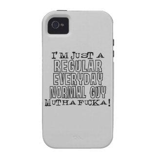 Individuo normal vibe iPhone 4 carcasas
