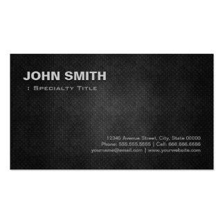 Individuo personal de acero del metal negro fresco tarjetas de visita