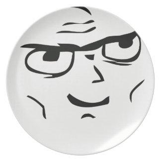 Individuo resuelto Meme - placa Plato De Comida