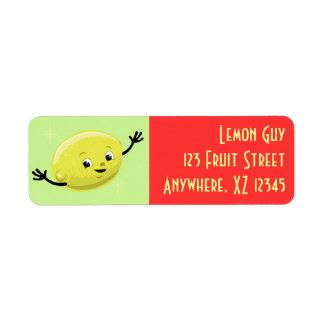 Individuo retro adaptable del limón etiquetas de remite