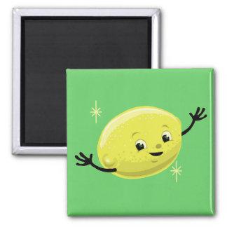Individuo retro adaptable del limón iman