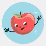 Individuo retro de Apple Pegatina Redonda