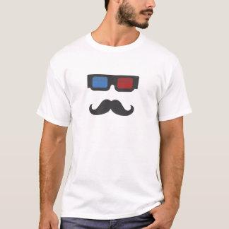Individuo retro del bigote playera