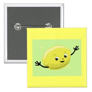 Individuo retro del limón pin