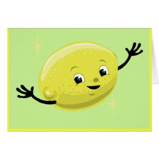 Individuo retro del limón tarjeta de felicitación