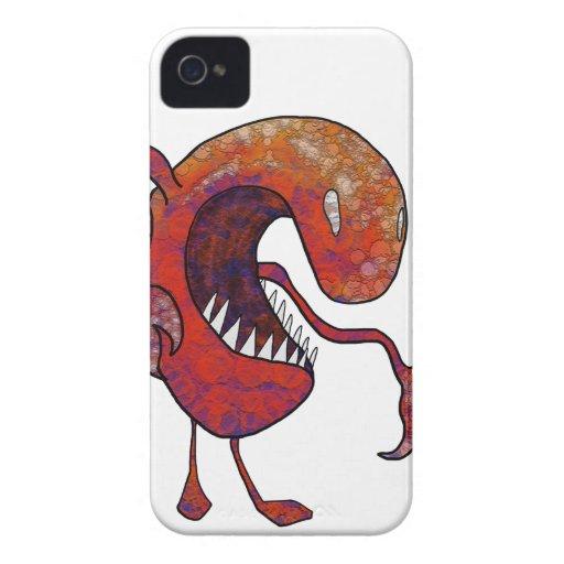 Individuo rojo iPhone 4 funda