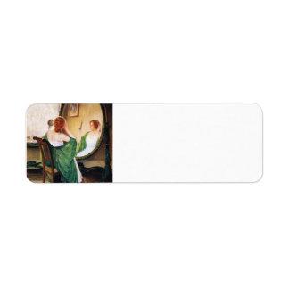 Individuo Rose el espejo verde Etiqueta De Remite